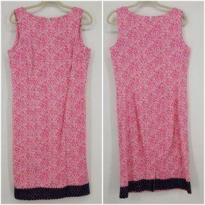 Talbots Lace Trimmed Shift Dress 10